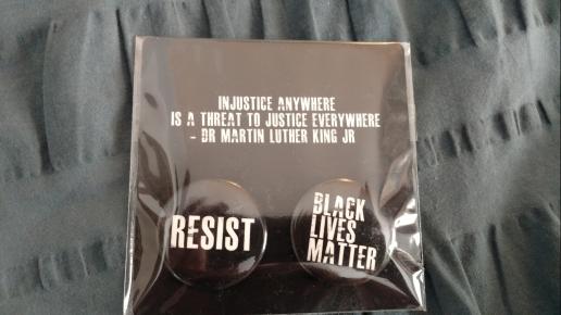 Black lives matter resist pins