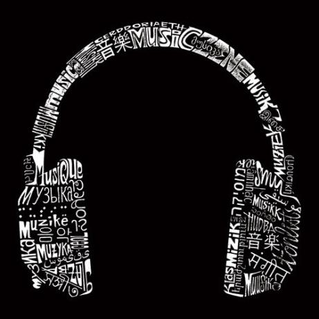 la pop art music tote bag languages