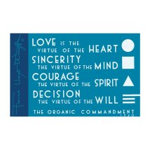 Frank Lloyd Wright Organic Commandment Magnet