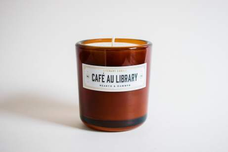 Cafe Au Library candle Hearth and Hammer